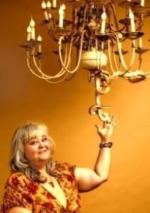 Lisa Powers' unique chandelier