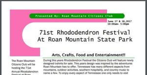 71st Rhododendron Festival flyer